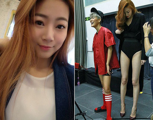 The Chinese model has become a sensation because of her incredibly long legs