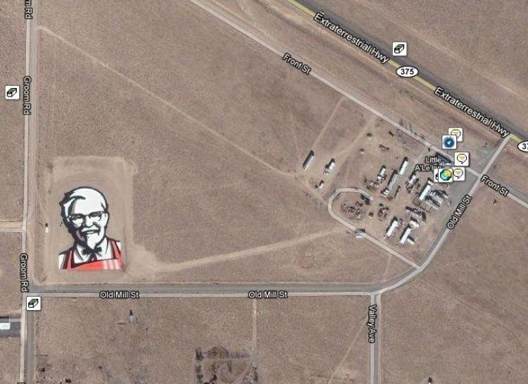 Giant KFC logo