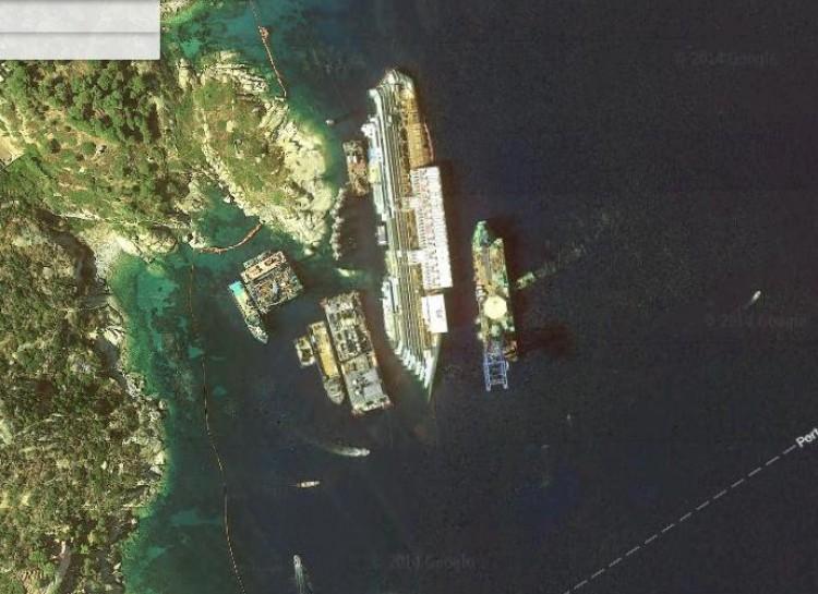 Sunken Italian cruise liner