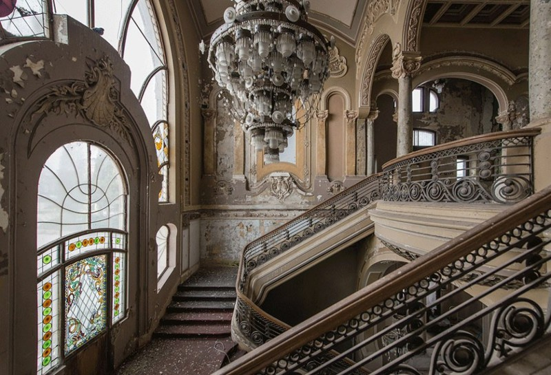 Abandoned casino in Romania