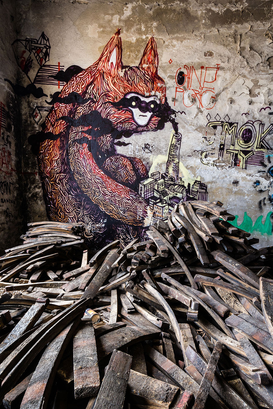 The monsters in abandoned buildings in Berlin