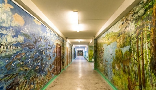 School walls that turned into an art gallery