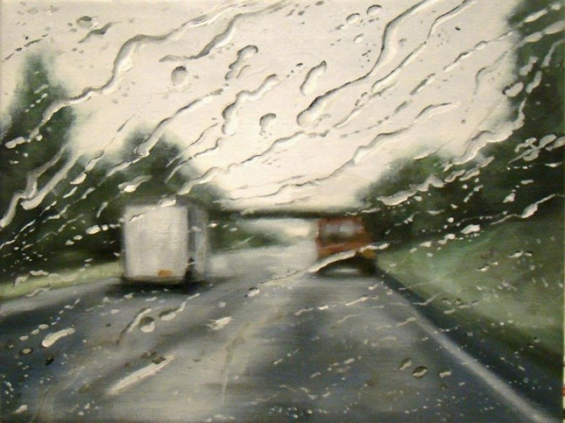 The artist that paints  rain