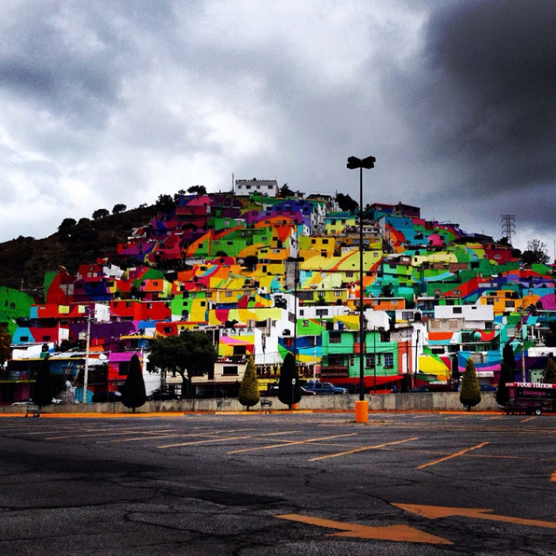 Mexican town that turned  into colorful place 5