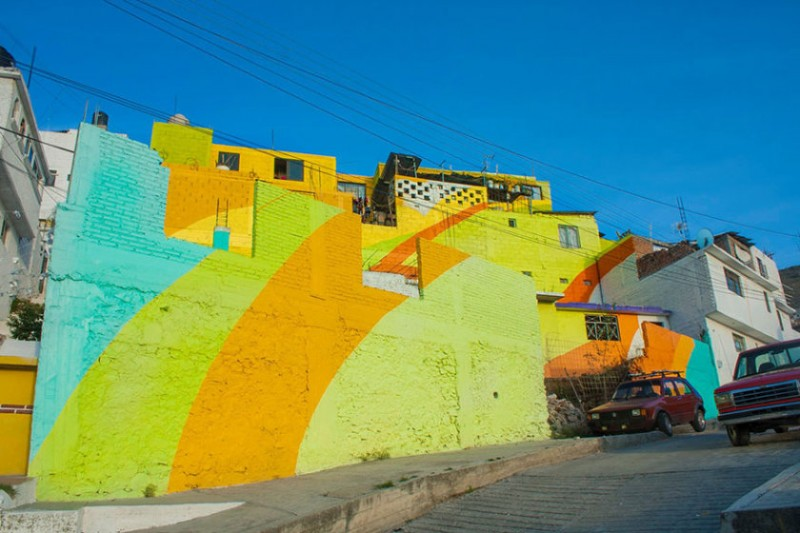 Mexican town that turned into colorful place 6