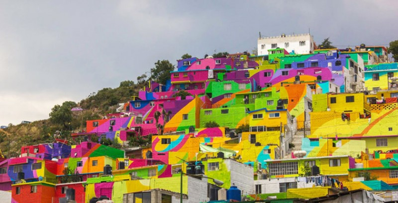 Mexican town that turned  into colorful place