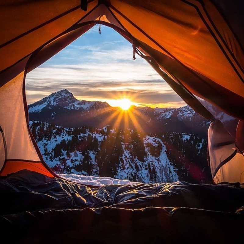 Morning views from tents 1