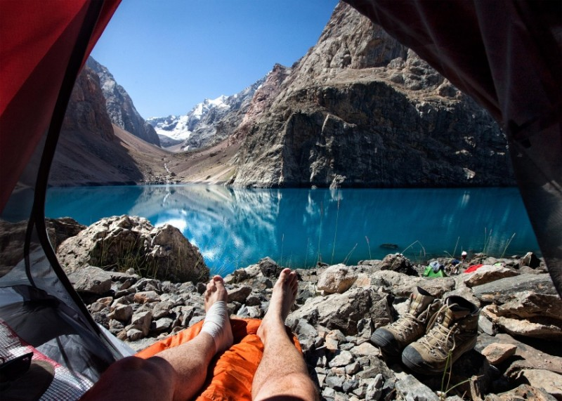 Morning views from tents 3