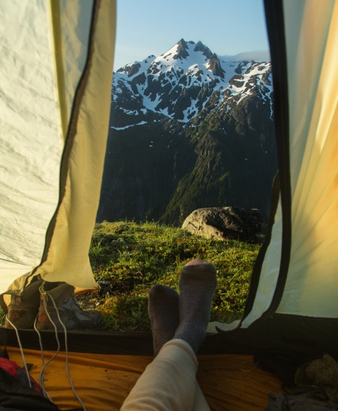 Morning views from tents 4