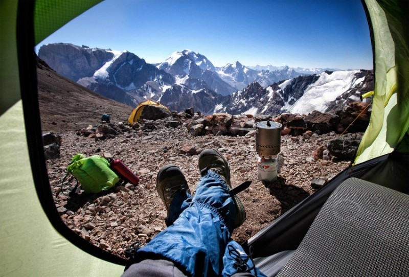 Morning views from tents 6