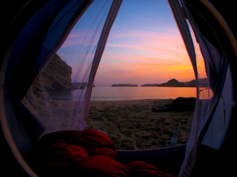 Morning views from tents 8