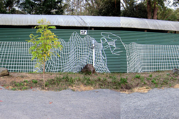 Street art made with electrical tape 10