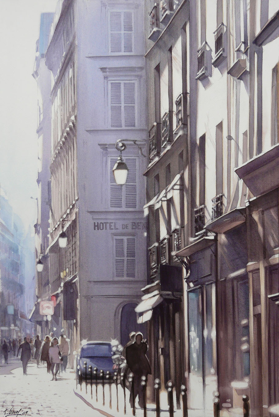 watercolor realism Thierry Duval 2