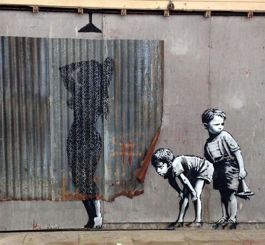 The work of street art in 2015 3