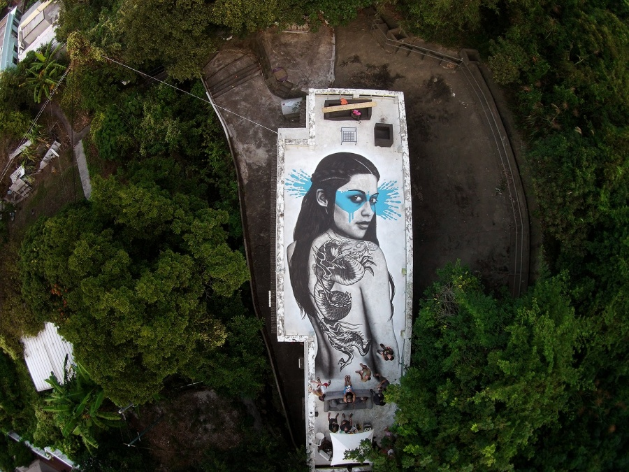 The work of street art in 2015 4