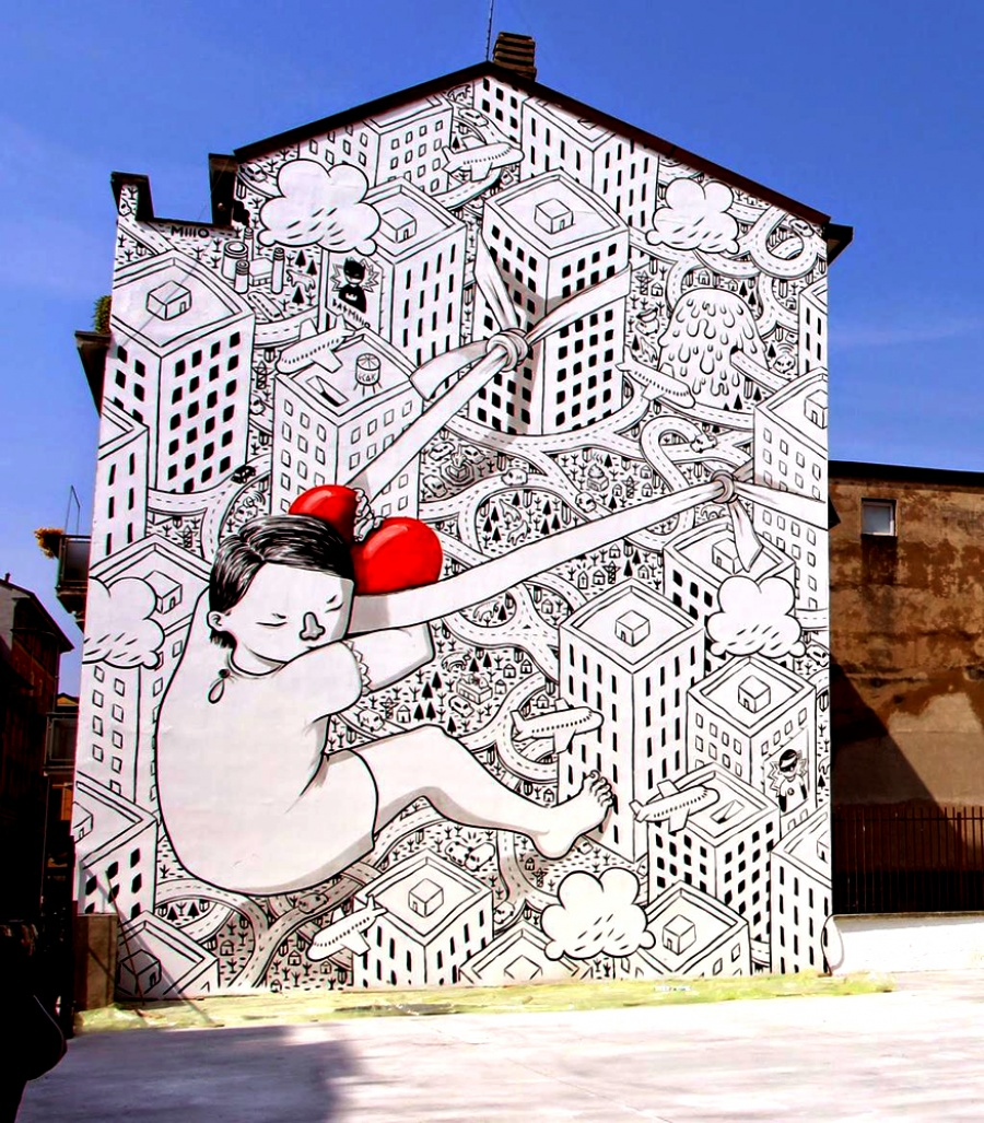 The work of street art in 2015 7