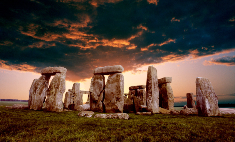 Four seasons trough the objective of Stonehenge
