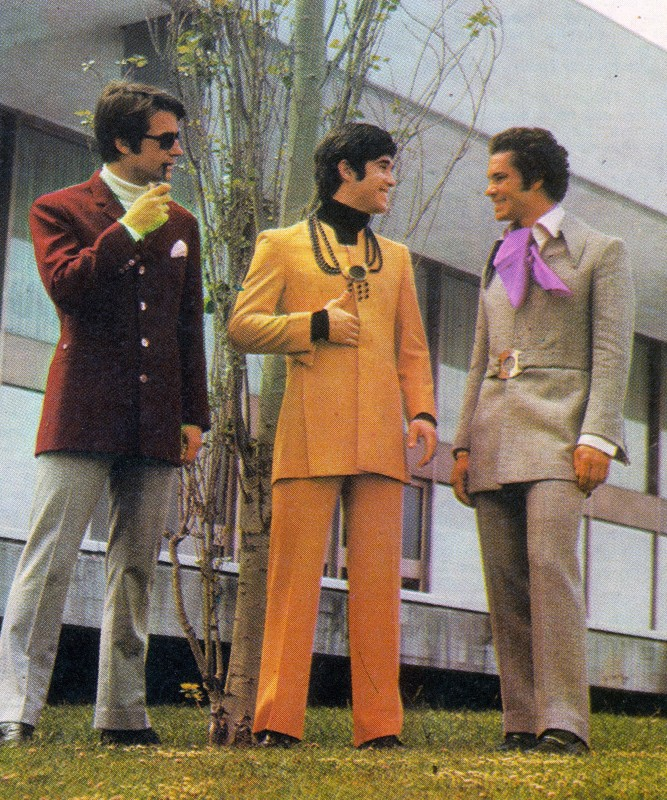 Male dress code in 1970s