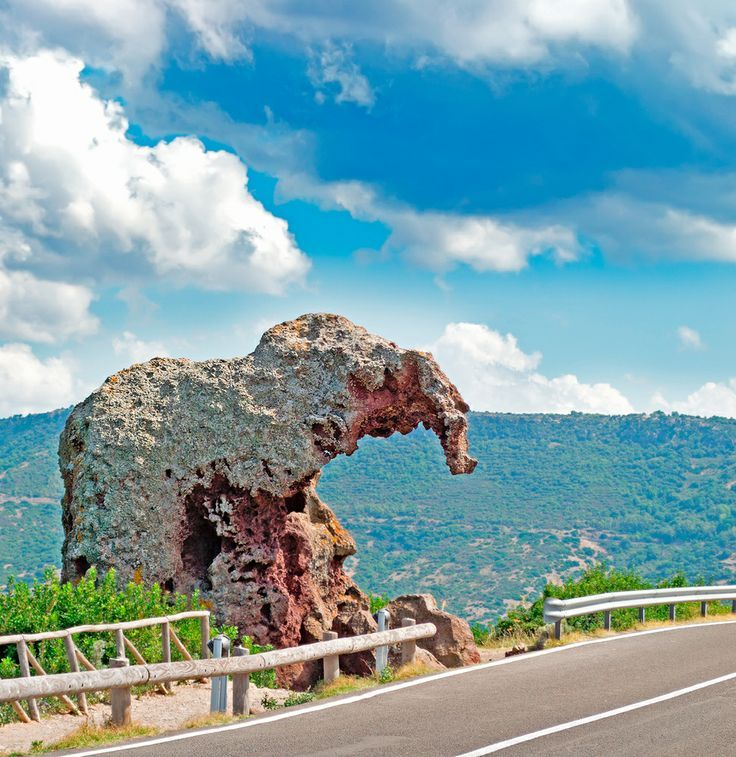 The amazing elephant rock in Italy