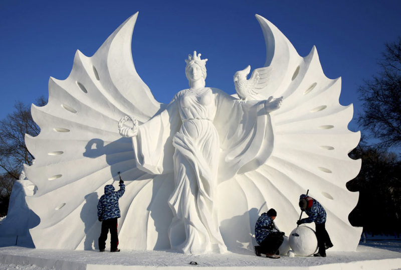 The most beautiful snow sculptures ever made