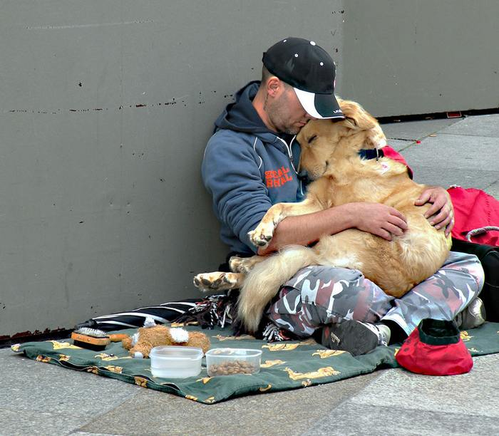 Who said homeless people can't have pets?