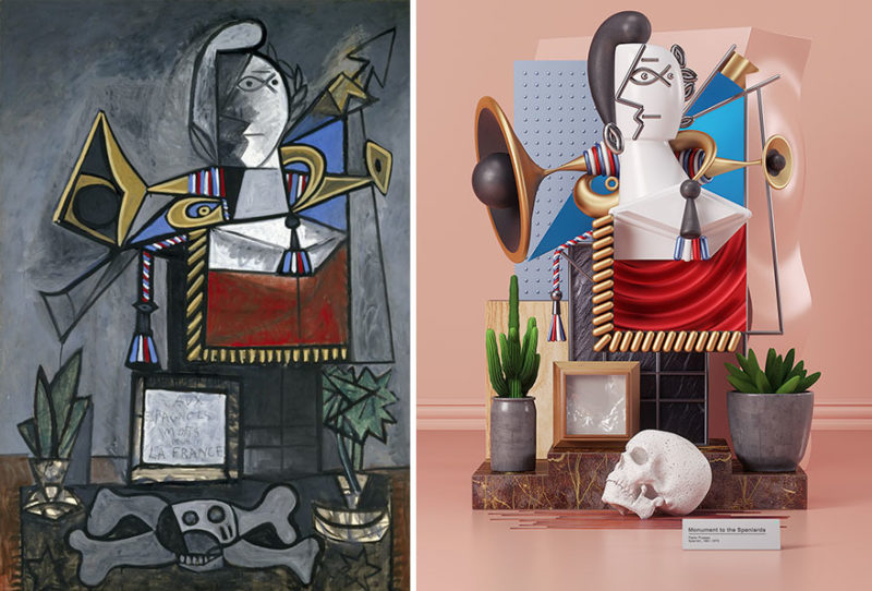 7 Picasso paintings recreated as 3D sculptures