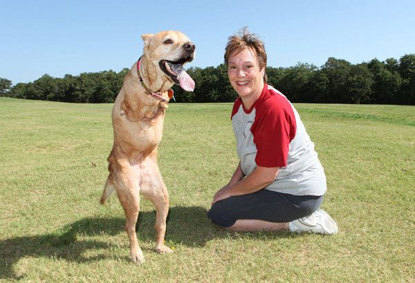Faith was the happiest dog born with 3 legs